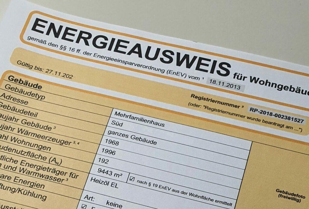 Energieausweis pflicht